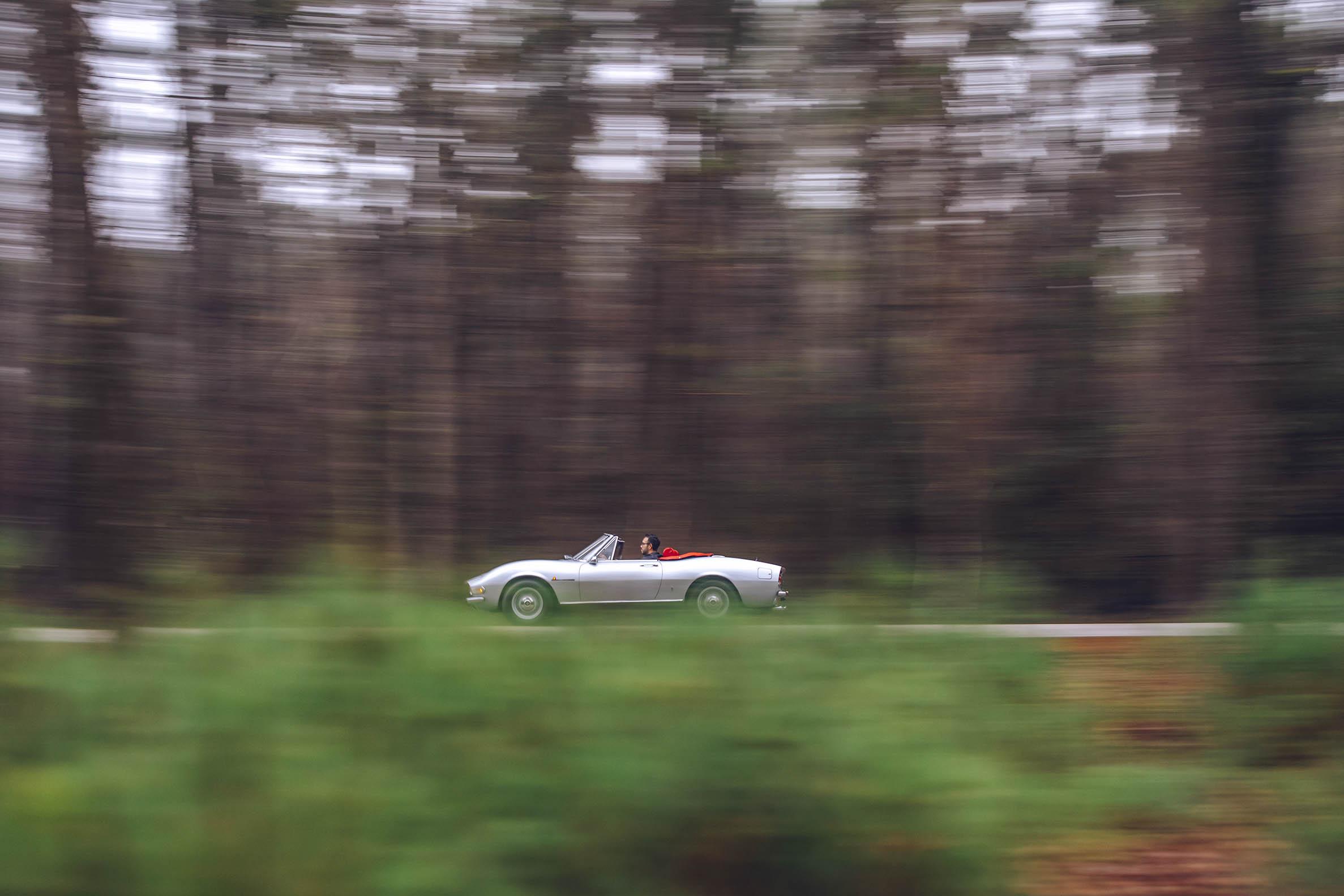 1970 Fiat Dino 2400 Spider driving