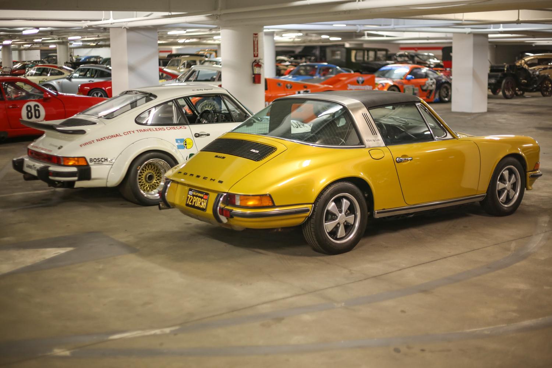 Porsche Petersen vault gold targa