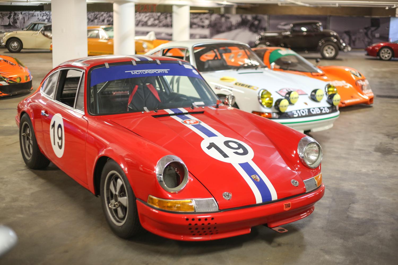 Porsche Petersen vault red race car