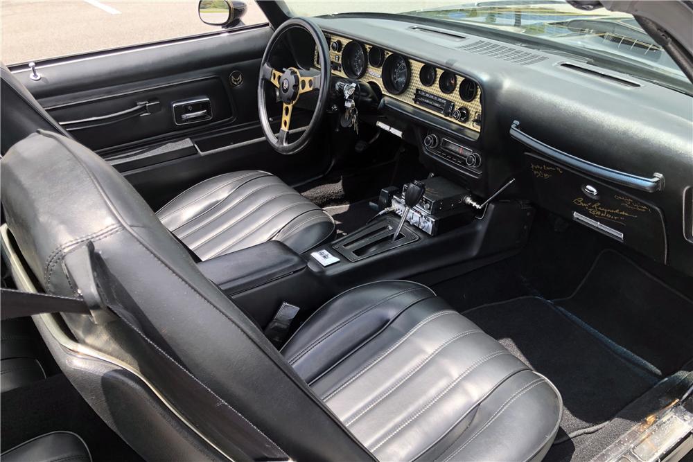 "1978 Pontiac Firebird Trans Am ""Bandit"" Re-creation interior"