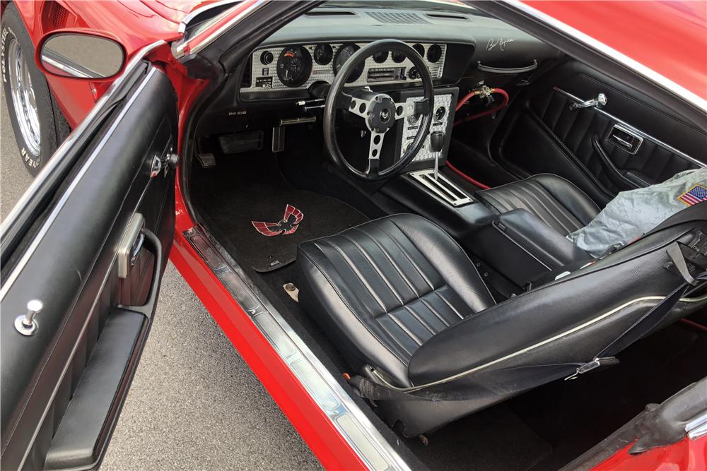 """1978 Pontiac Firebird Formula """"Hooper"""" Re-creation interior"""