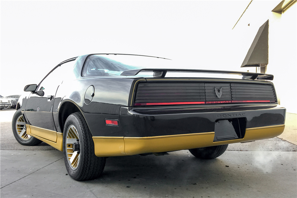 "1984 Pontiac Firebird Trans Am ""USFL Tampa Bay Bandits Promotional Car"" rear 3/4"