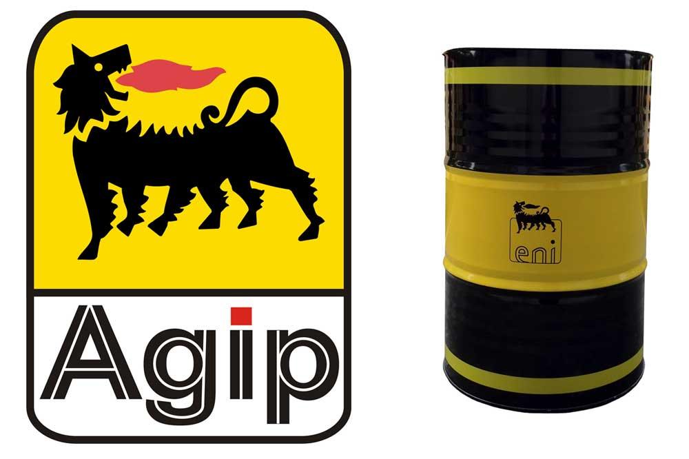 AGIP logo and Eni Oil barrel