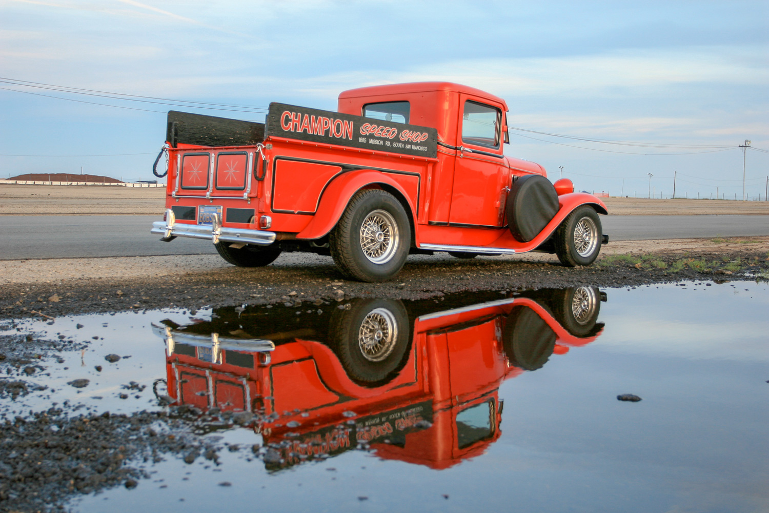 This 1934 Ford pickup has a Jaguar rear end and supercharged small-block Chevy