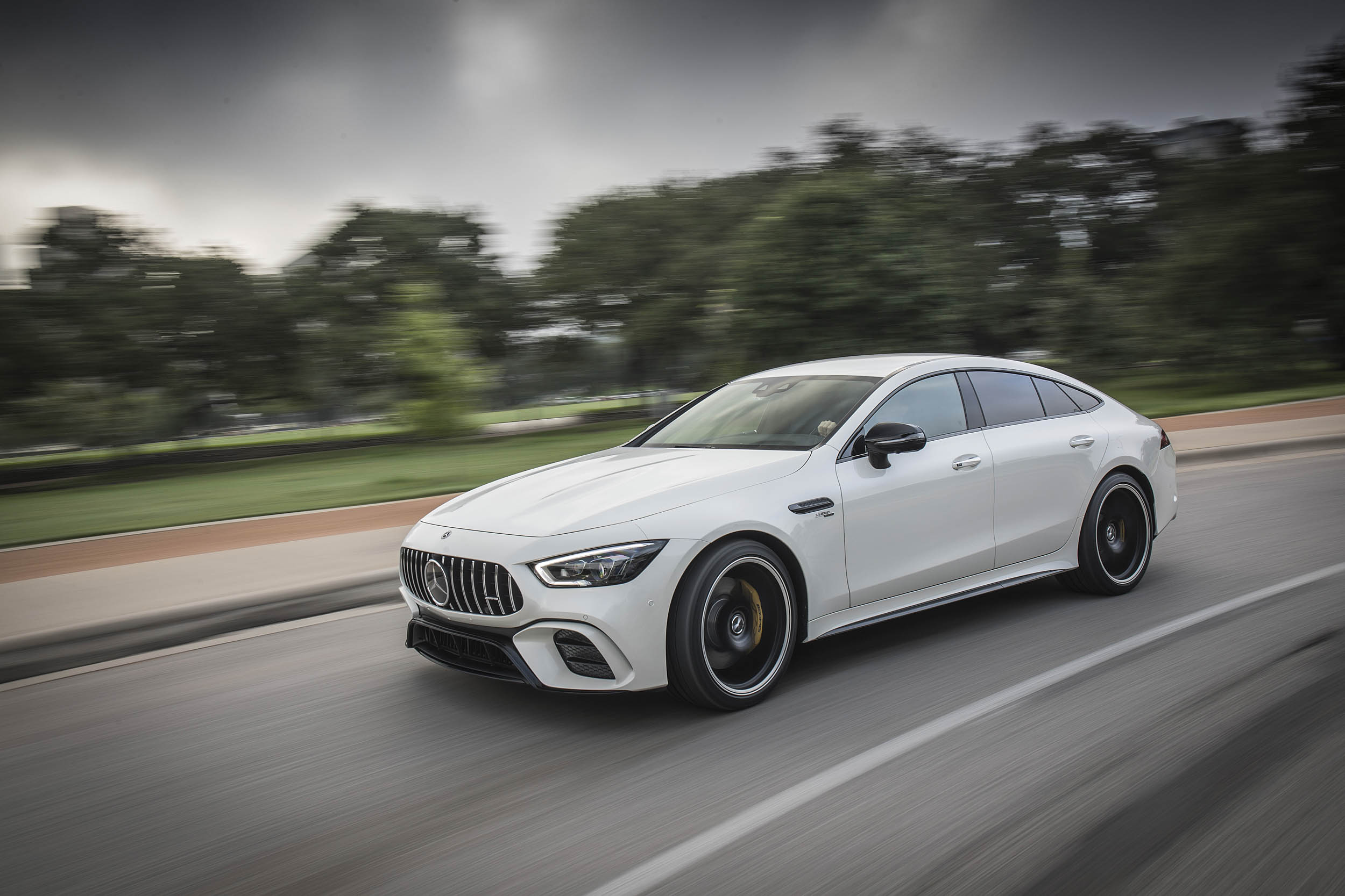 Mercedes-AMG GT 53 driving