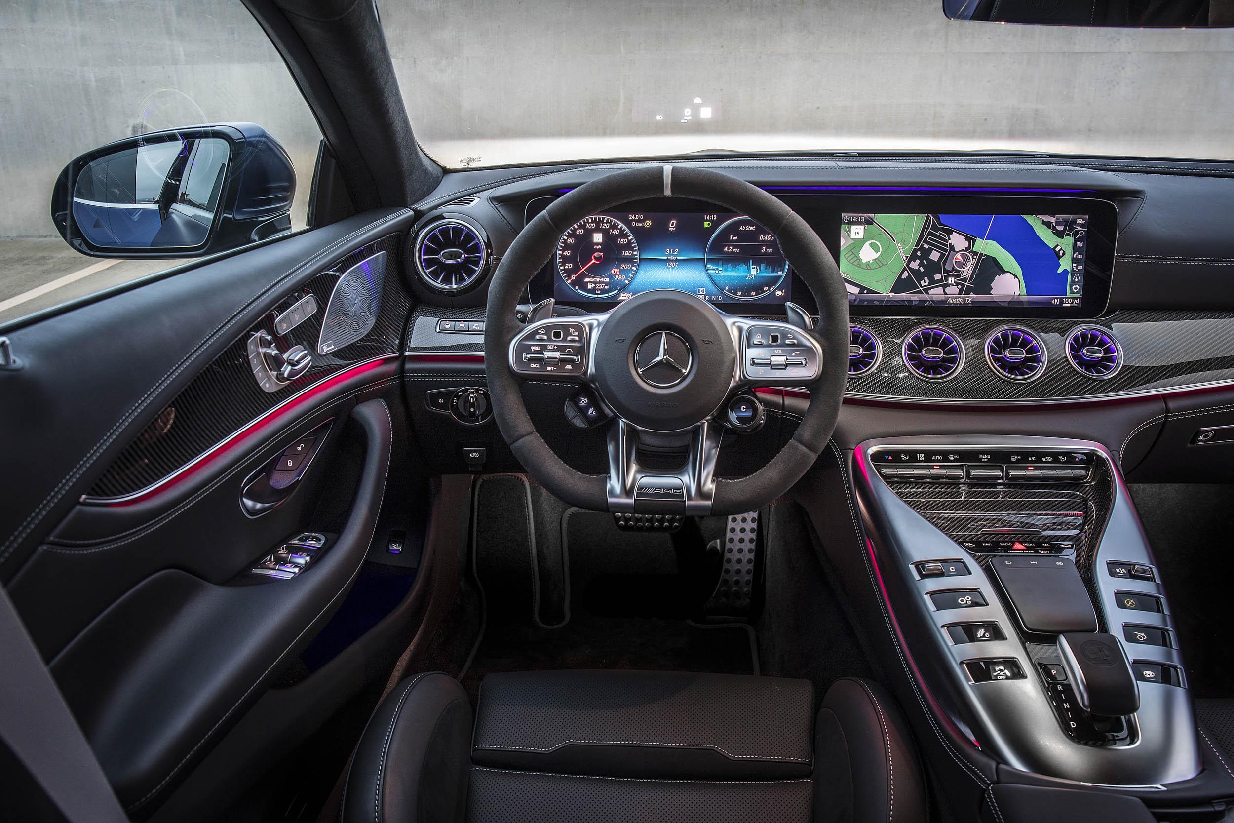 Mercedes-AMG GT 63 S interior lit up