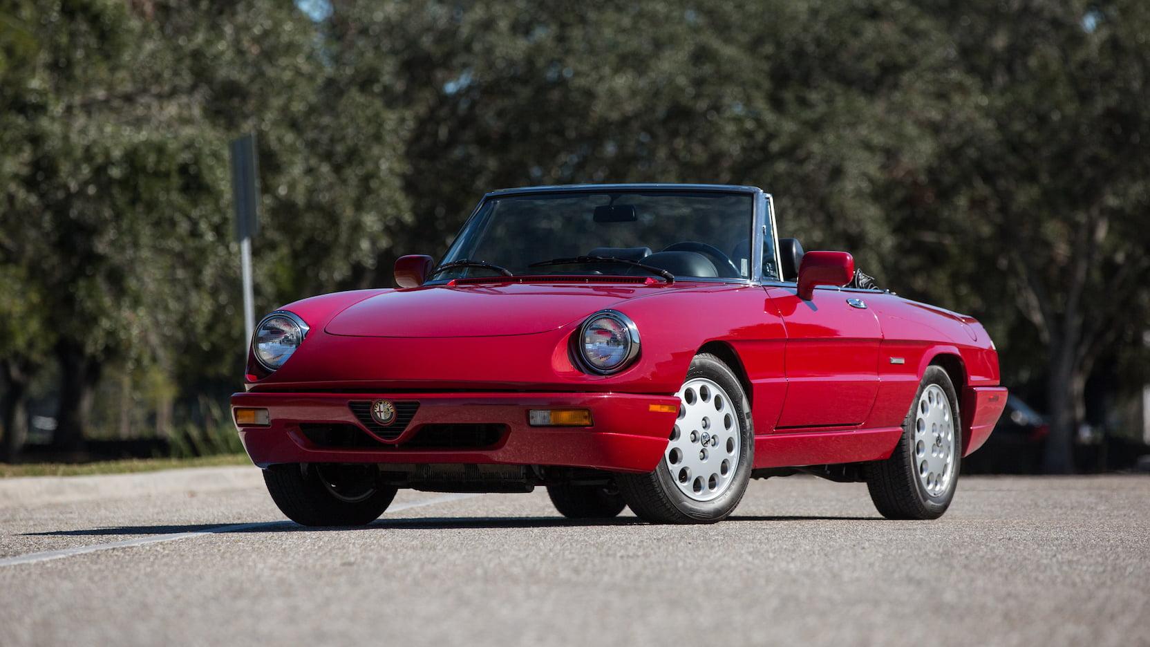 1992 Alfa Romeo Spider graduate front 3/4