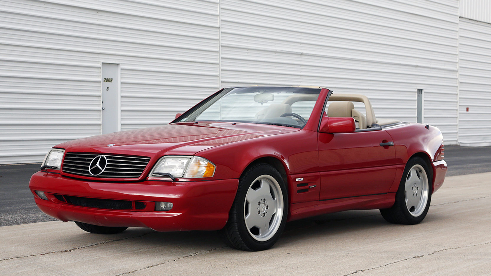 1996 Mercedes-Benz SL500 side profile