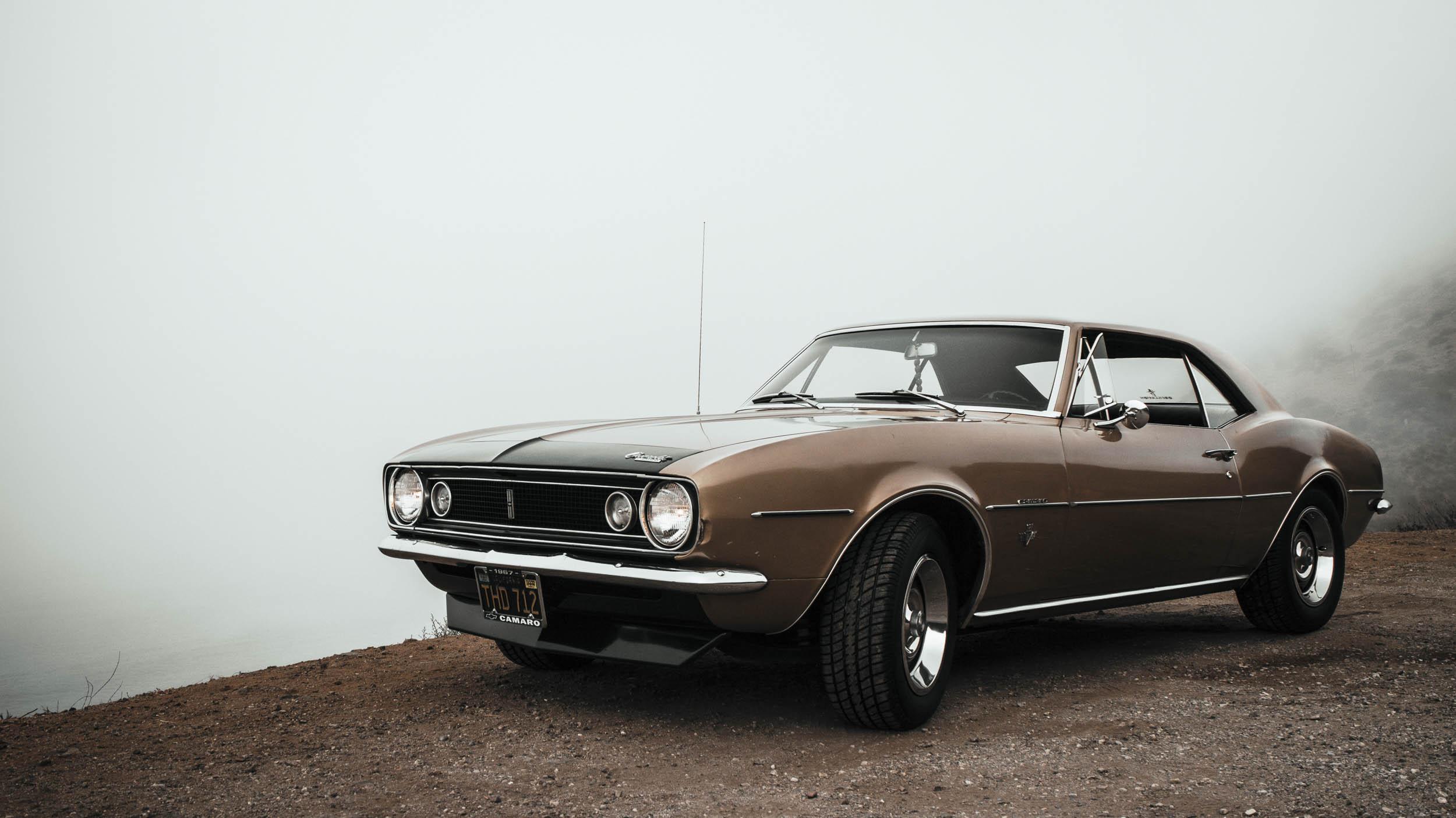 1967 Chevrolet Camaro in the fog