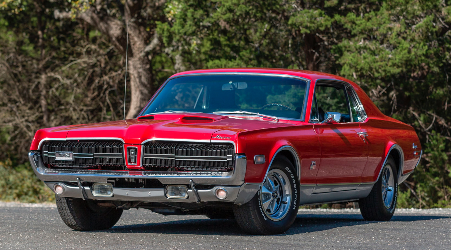 1968 Mercury Cougar GT-E red 3/4 front