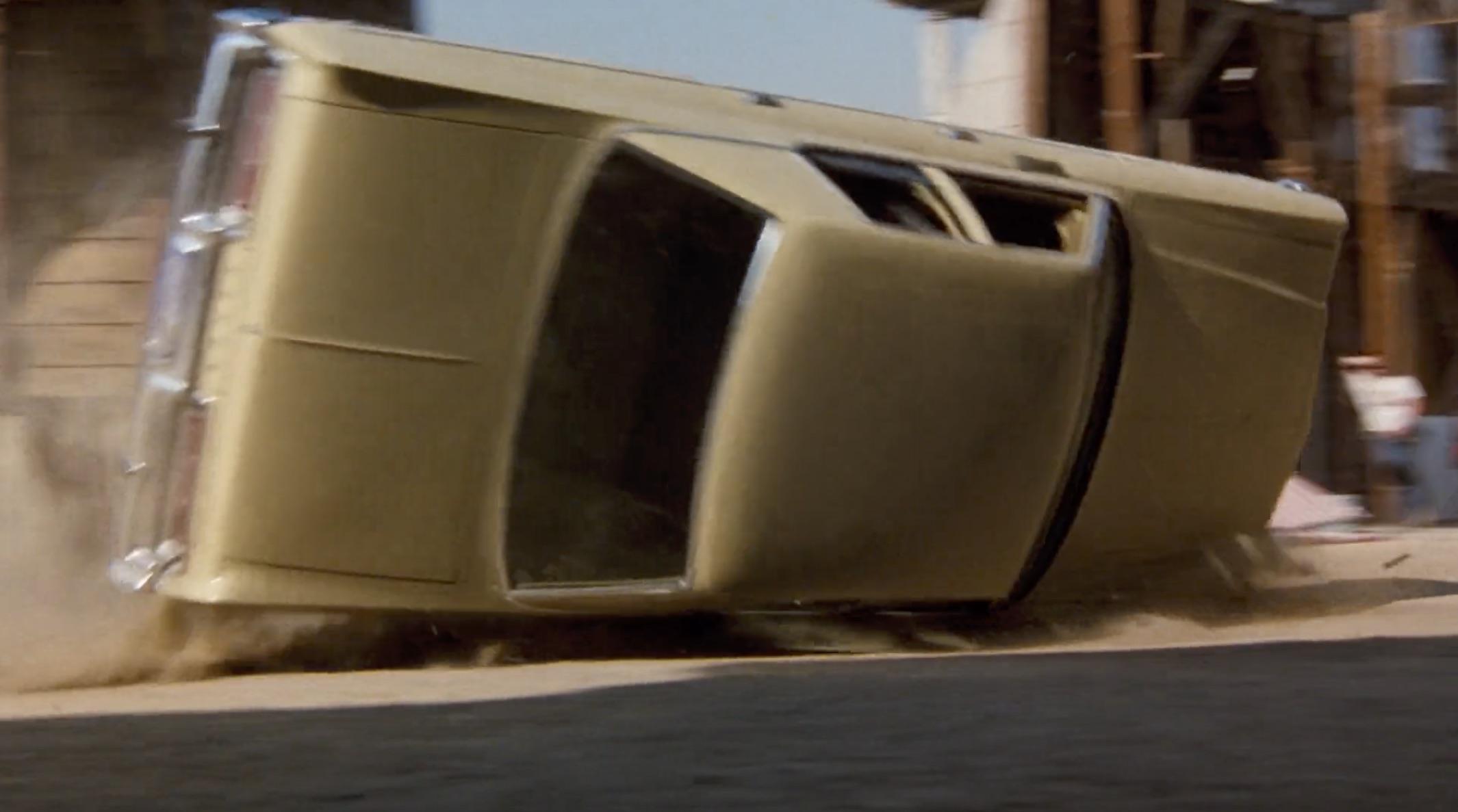 Burt Reynolds Hooper yellow sedan crash