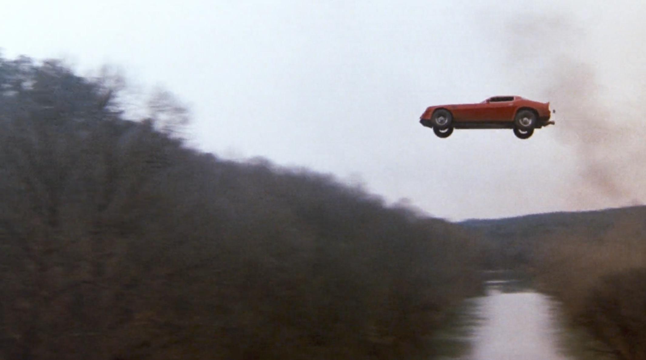 Burt Reynolds Hooper Firebird flying
