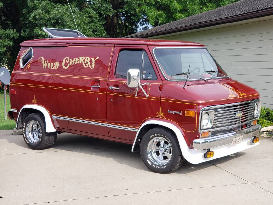 Wild Cherry Van post restoration