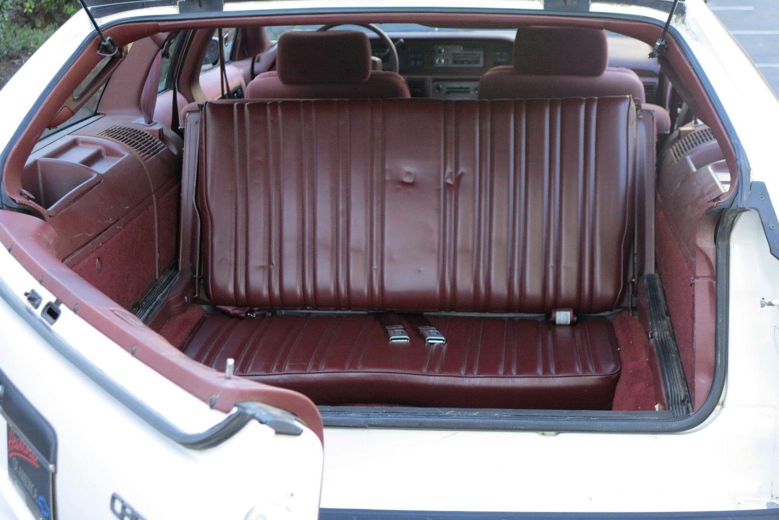 1991 Chevrolet Caprice Classic Wagon third row rear seat