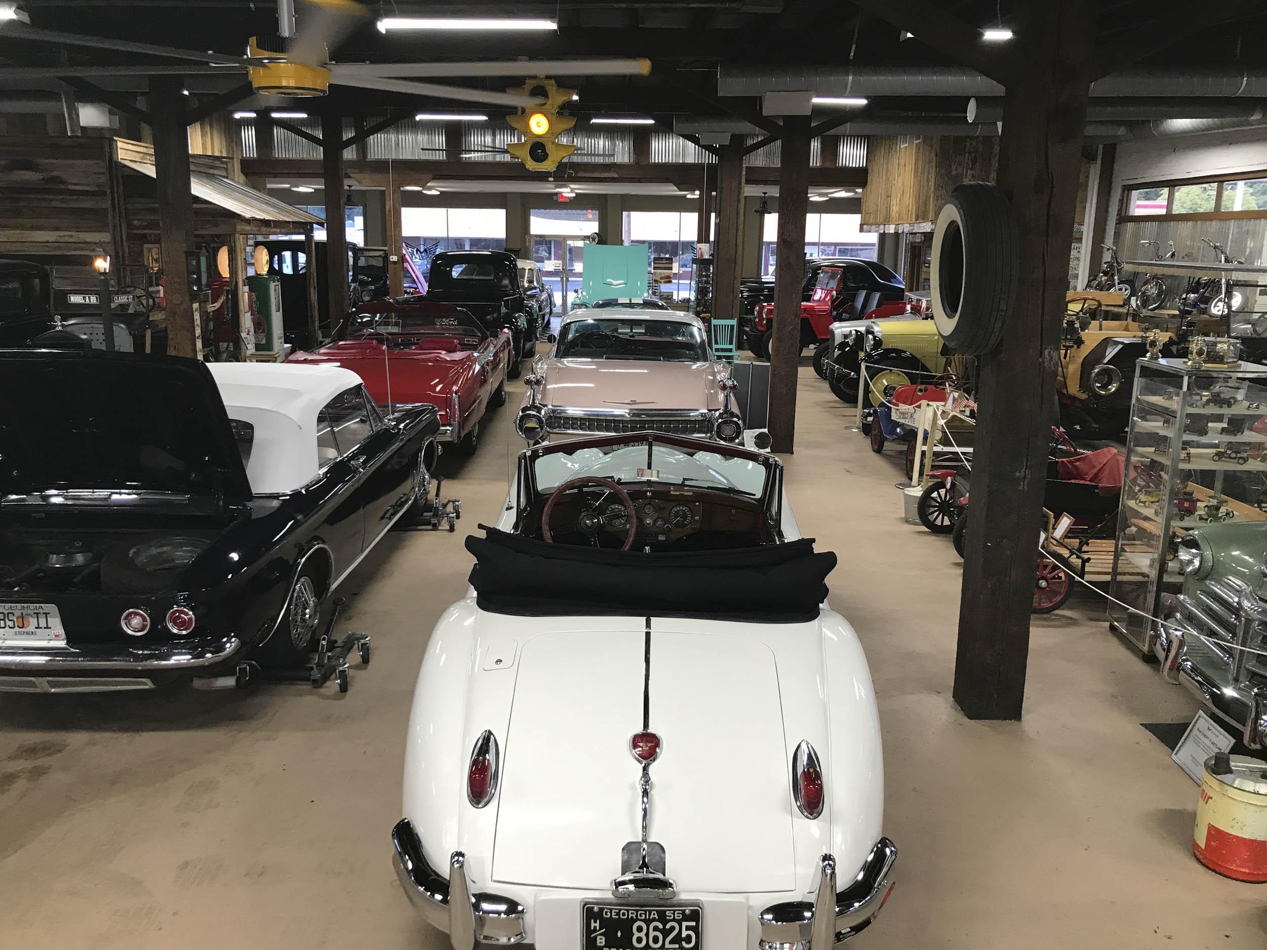 Miles Through Time auto museum display