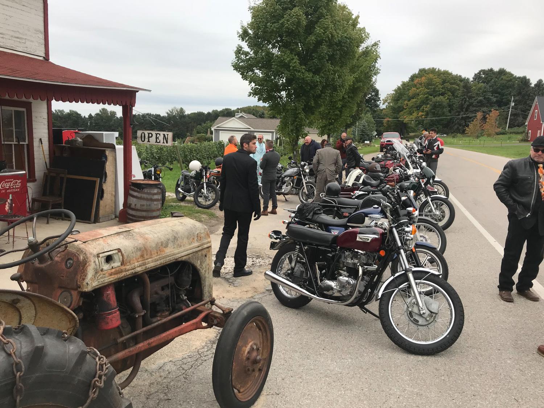 Distinguished Gentlemen Ride side of road tractor
