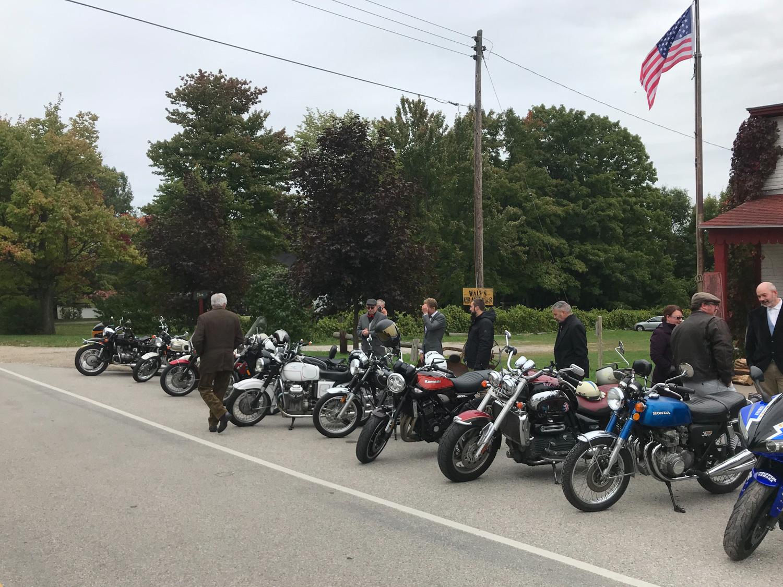 Distinguished Gentlemen Ride group shot of all bikes