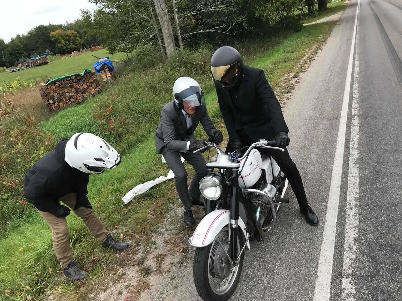 Distinguished Gentlemen Ride Moto Guzzi roadside repair