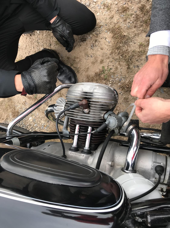 Distinguished Gentlemen Ride BMW Carb plug zip tie
