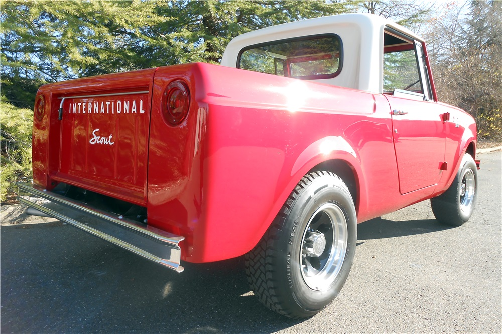 1965 International Scout 4x4 Pickup rear 3/4