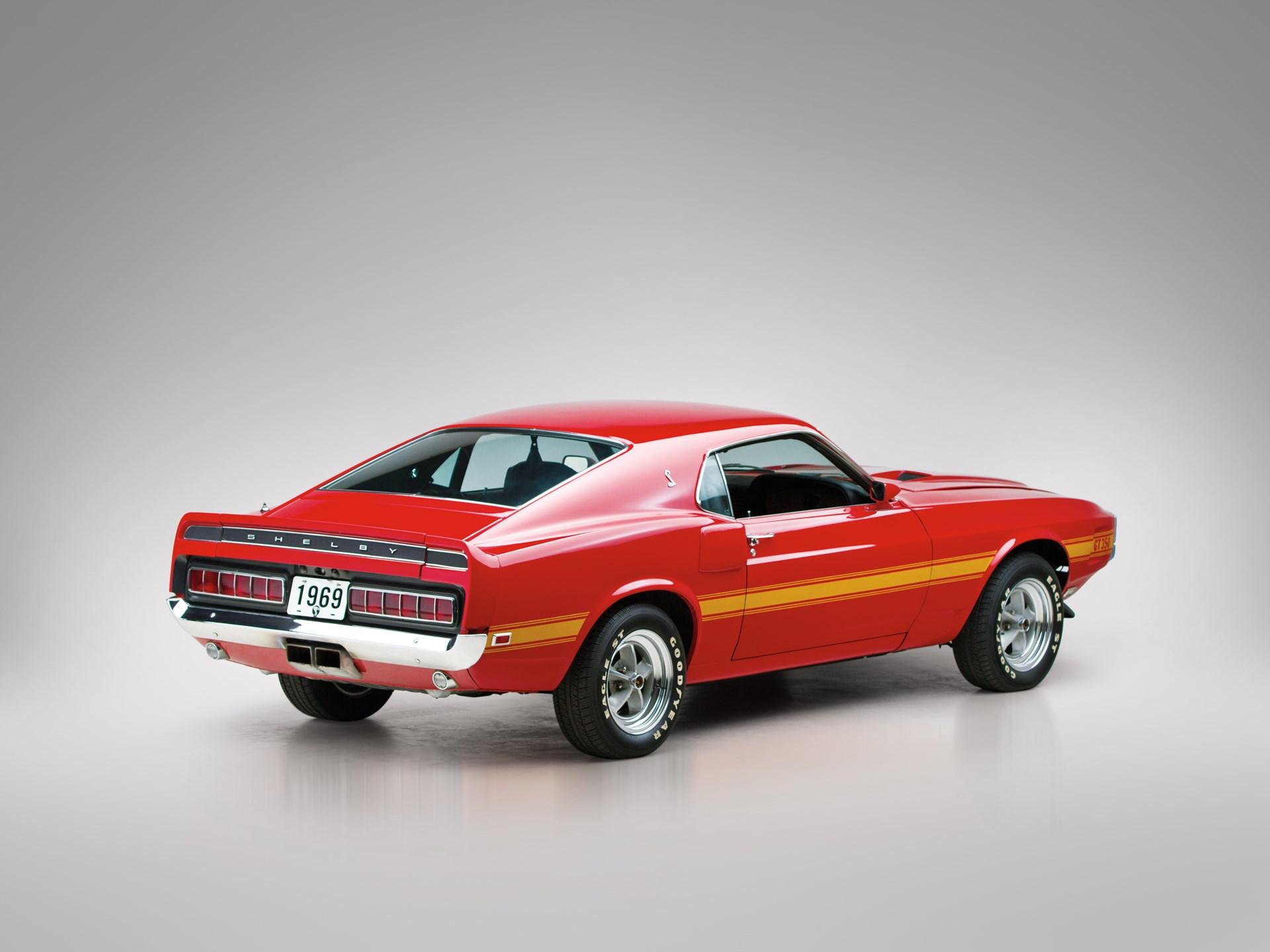 1969 Shelby Mustang GT350 rear 3/4