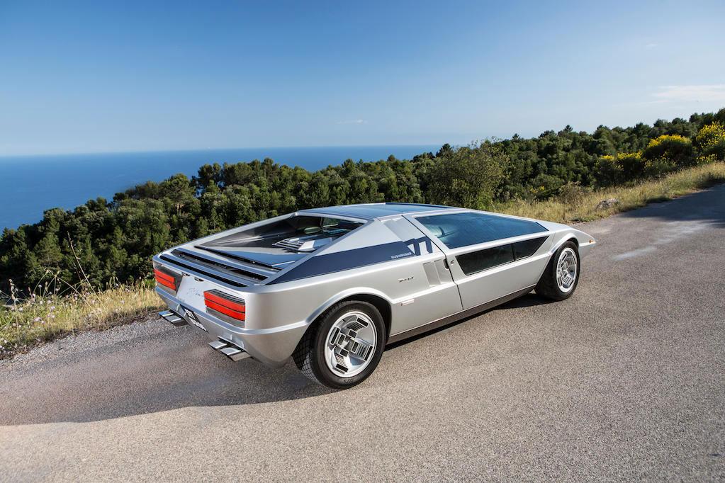 1972 Maserati Boomerang coupé rear 3/4