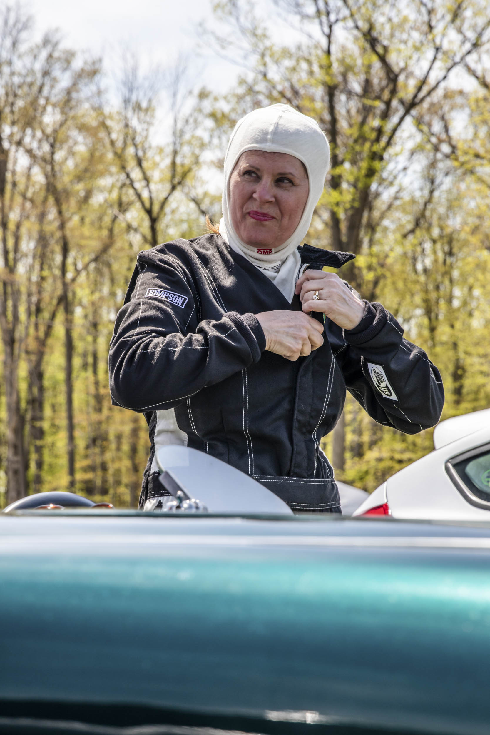 Eileen Wetzel is a dental assistant, but on weekends, she's hooked by the challenge of driving her Austin- Healey as fast as it can go.