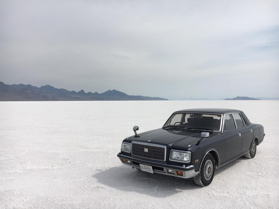 Toyota Century at the Bonneville Salt Flats