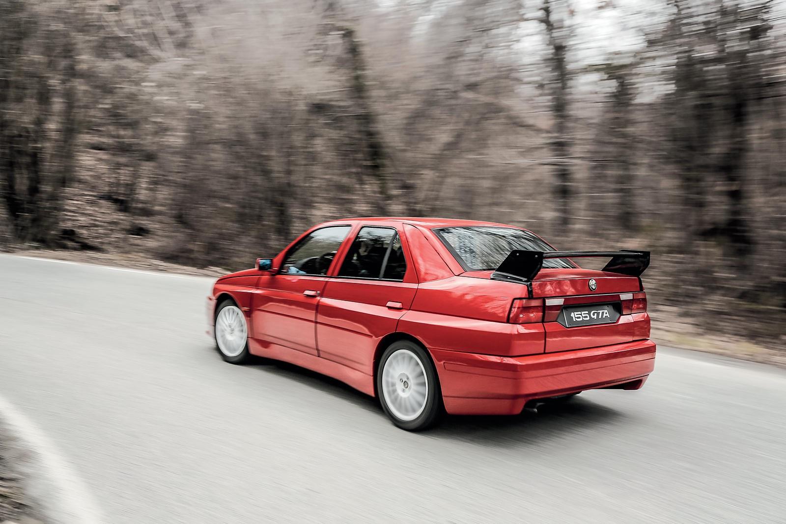 1993 Alfa Romeo 155 GTA Stradale Sports Saloon rear 3/4