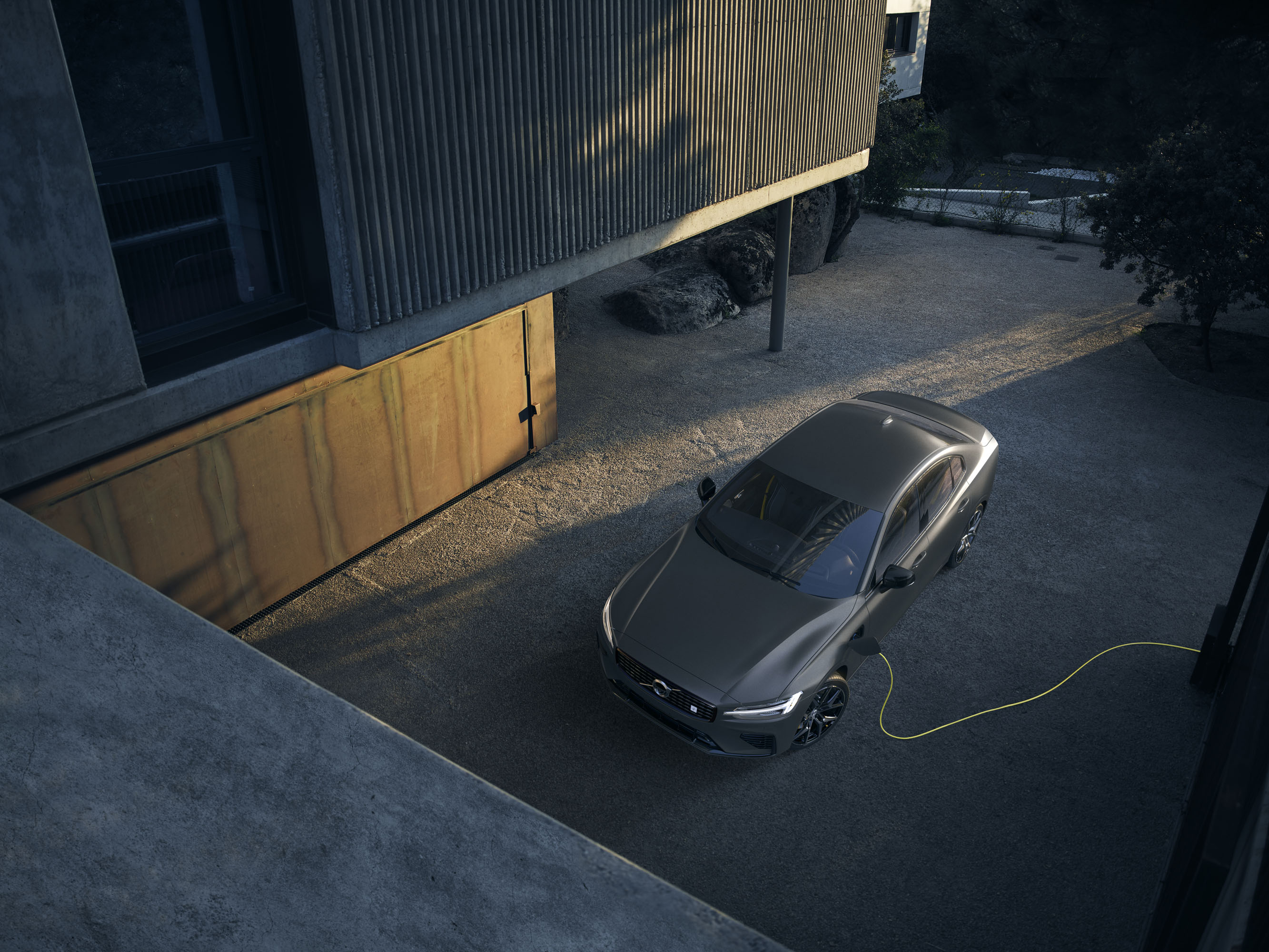 2019 Volvo S60 Polestar in grey charging