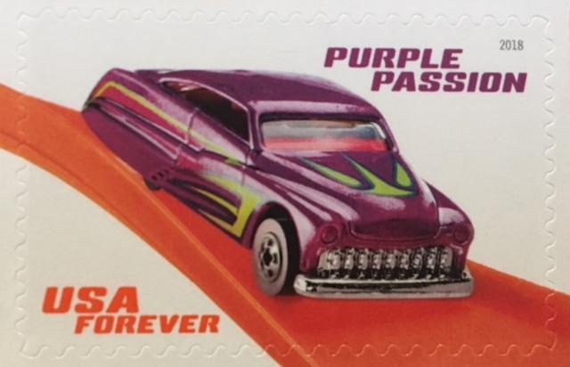 Purple Passion Hot Wheel stamp