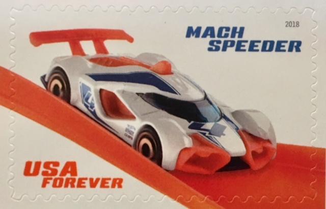 Mach Speeder USA Forever stamp
