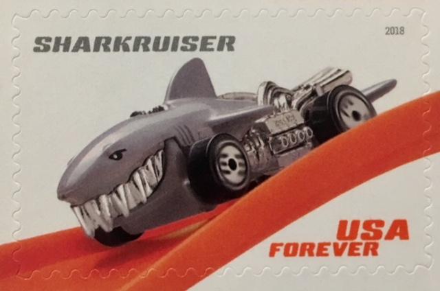 Sharkruiser Hot Wheel Stamp