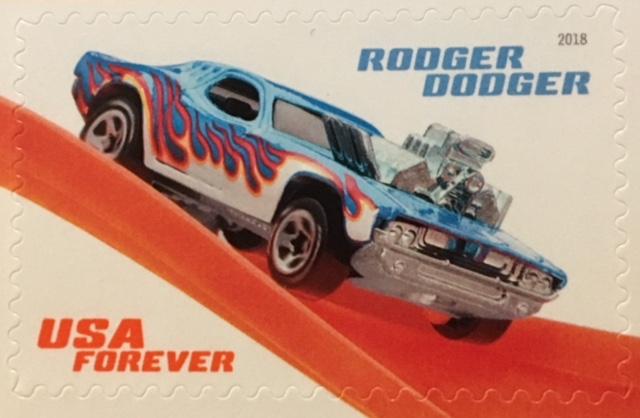 Rodger Dodger Hot Wheel stamp