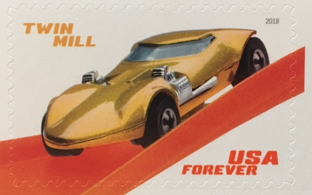 Twin Mill Hot Wheels Stamp