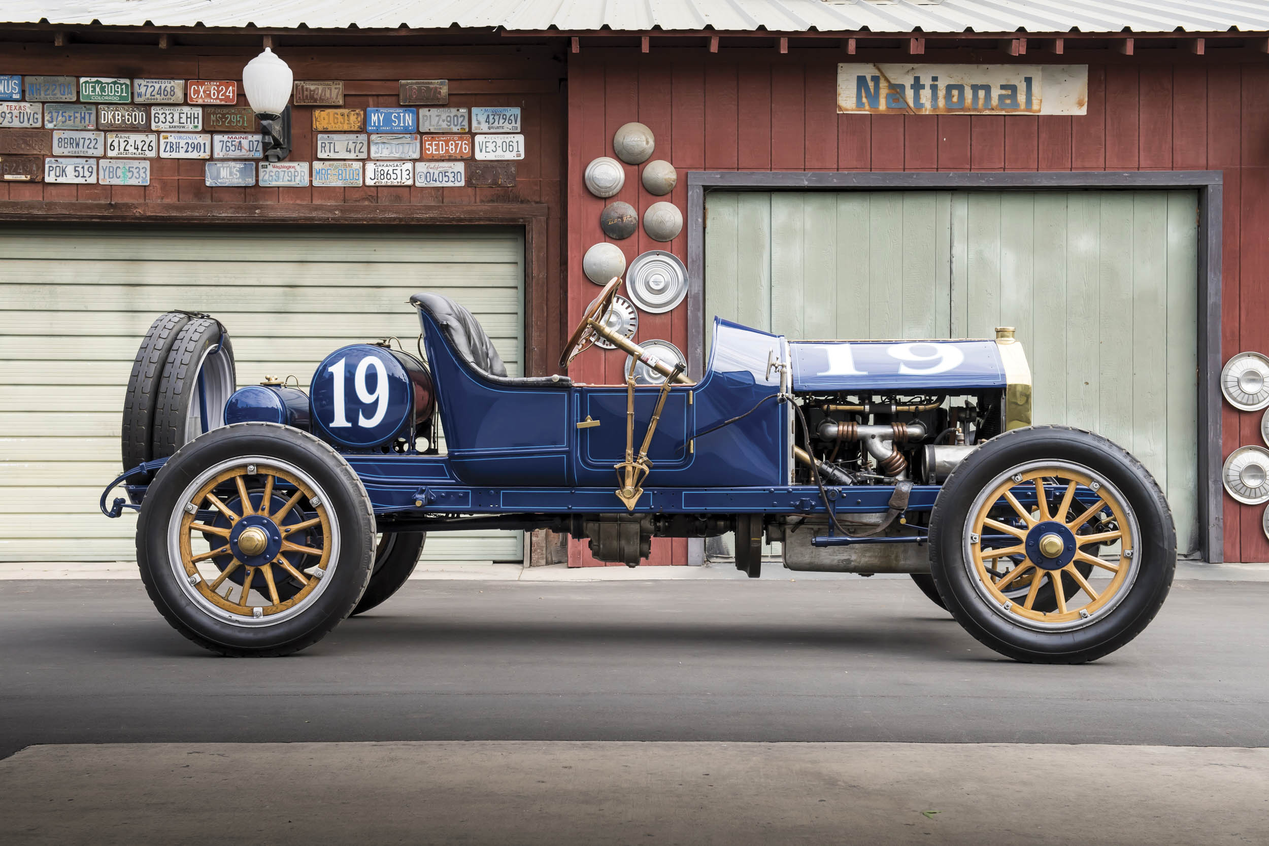 This 1911 Speedway Roadster, with its 450-cubic-inch four-cylinder, is owned by Charles Test, the great-great-grandson of National's founder.