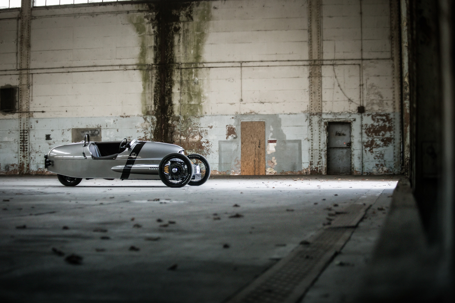 Morgan EV3 Concept warehouse side