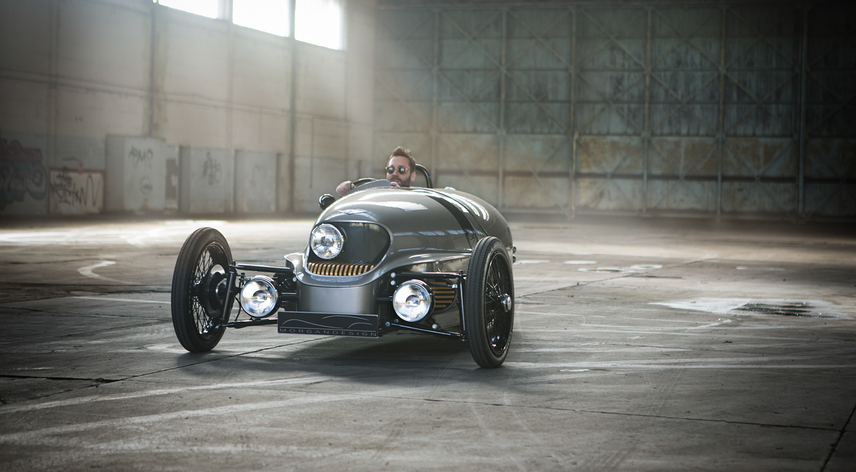 Morgan EV3 Concept driving in warehouse