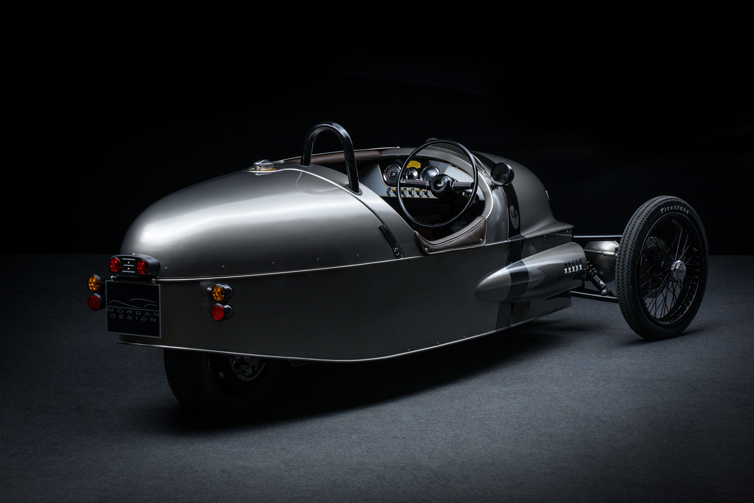 Morgan EV3 Concept rear 3/4