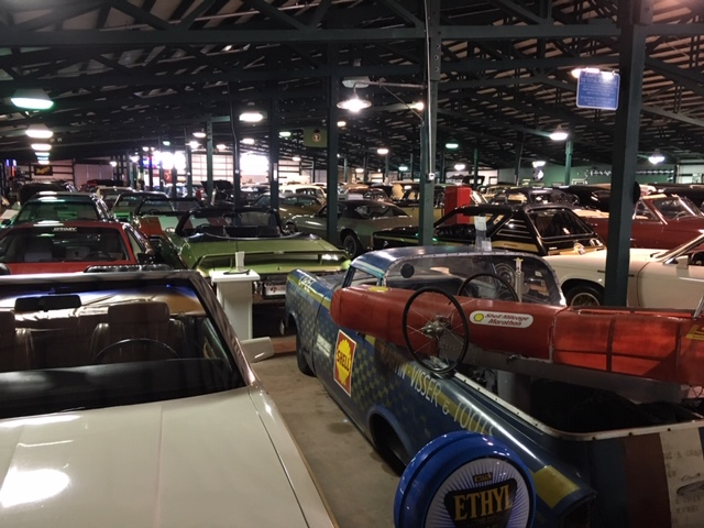 LeMay Collection Marymount warehouse full of cars