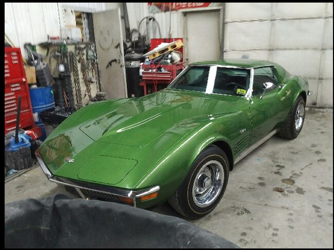 1972 Chevrolet Corvette garage 3/4 front