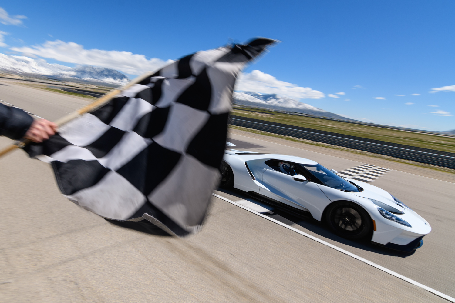 Ford GT finish line