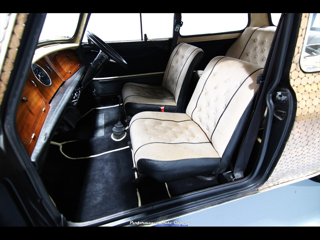 "1968 Morris Mini-Minor ""Penny Lane"" interior"