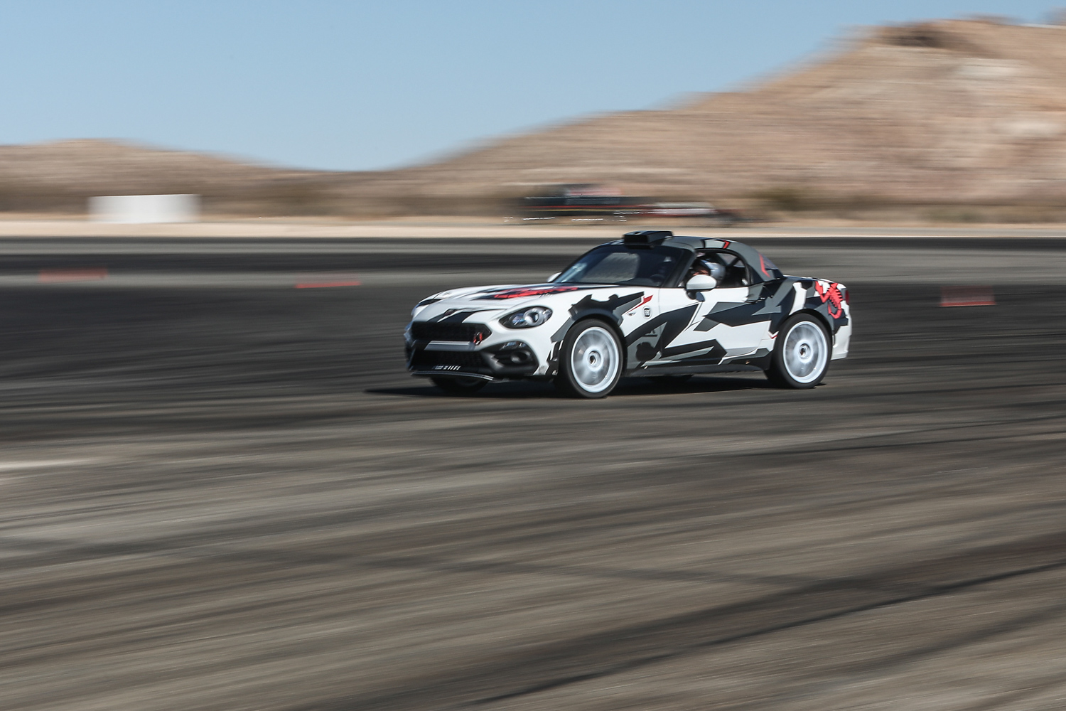 Fiat 124 Abarth Rally on track