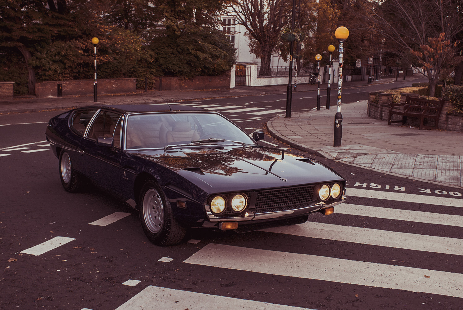 Lamborghini espada Abbey road beetles 3/4 front