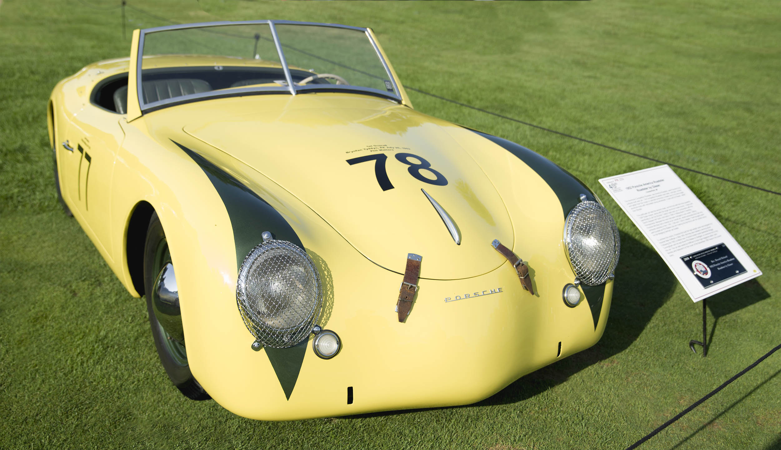 The Porsche America Roadster at the Concours d'Elegance of America in Plymouth, Michigan.