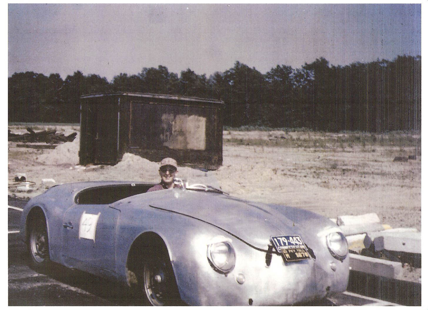 """At some point during its amateur racing career, all paint was stripped from the Roadster, and it came to be called the """"Reynolds Wrap Special."""""""