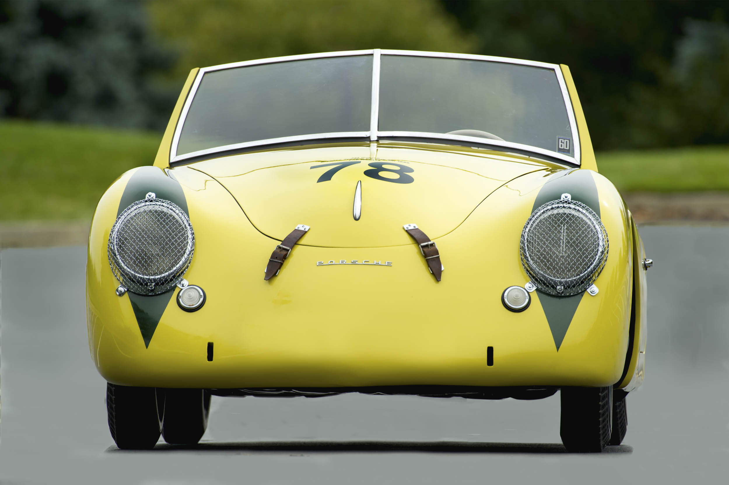 The Porsche America Roadster wore number 78 in the marque's first overall win. Today, that number graces the hood.