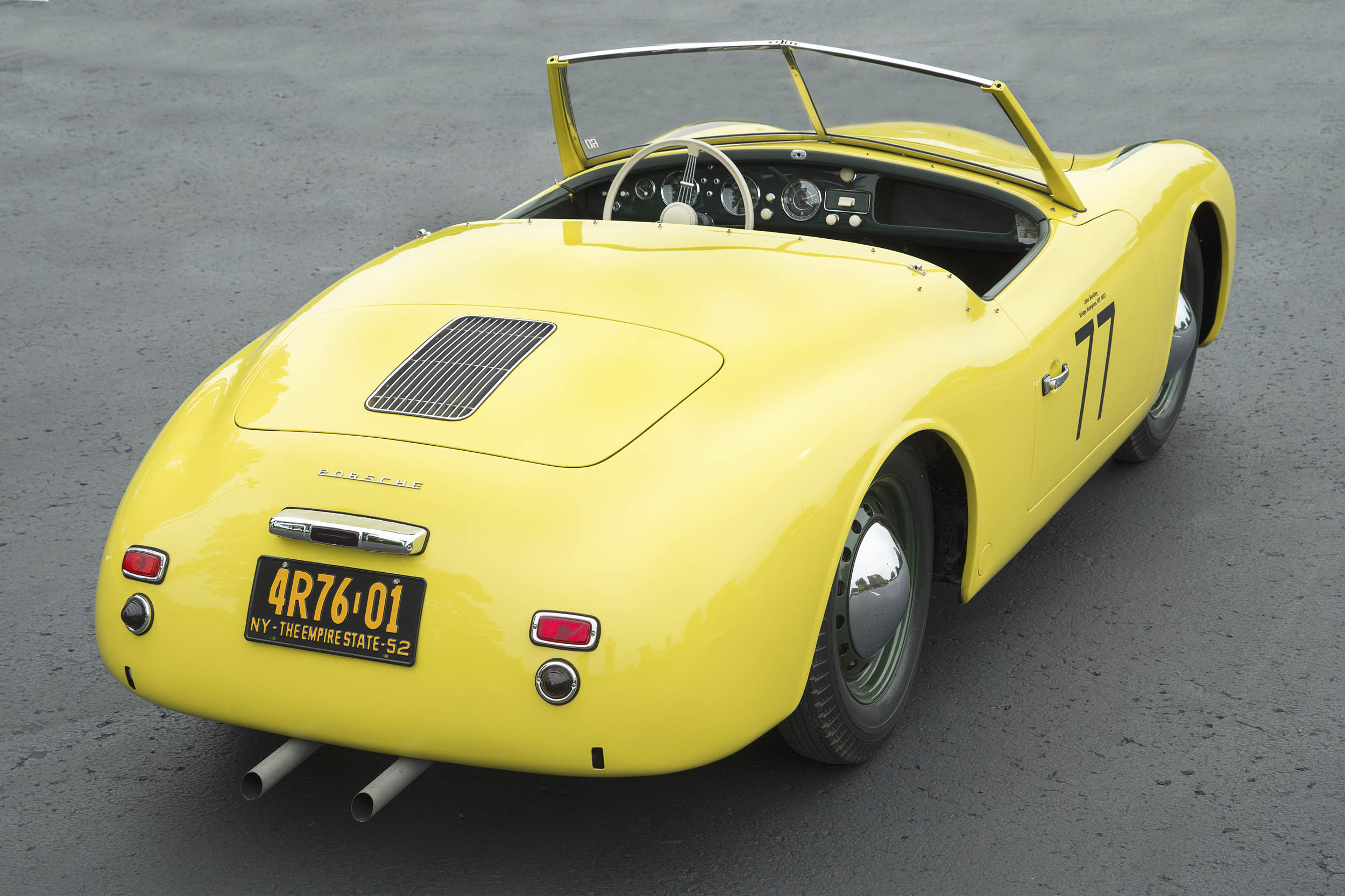 The Porsche's gentle curves are as beautiful today as they were 66 years ago.