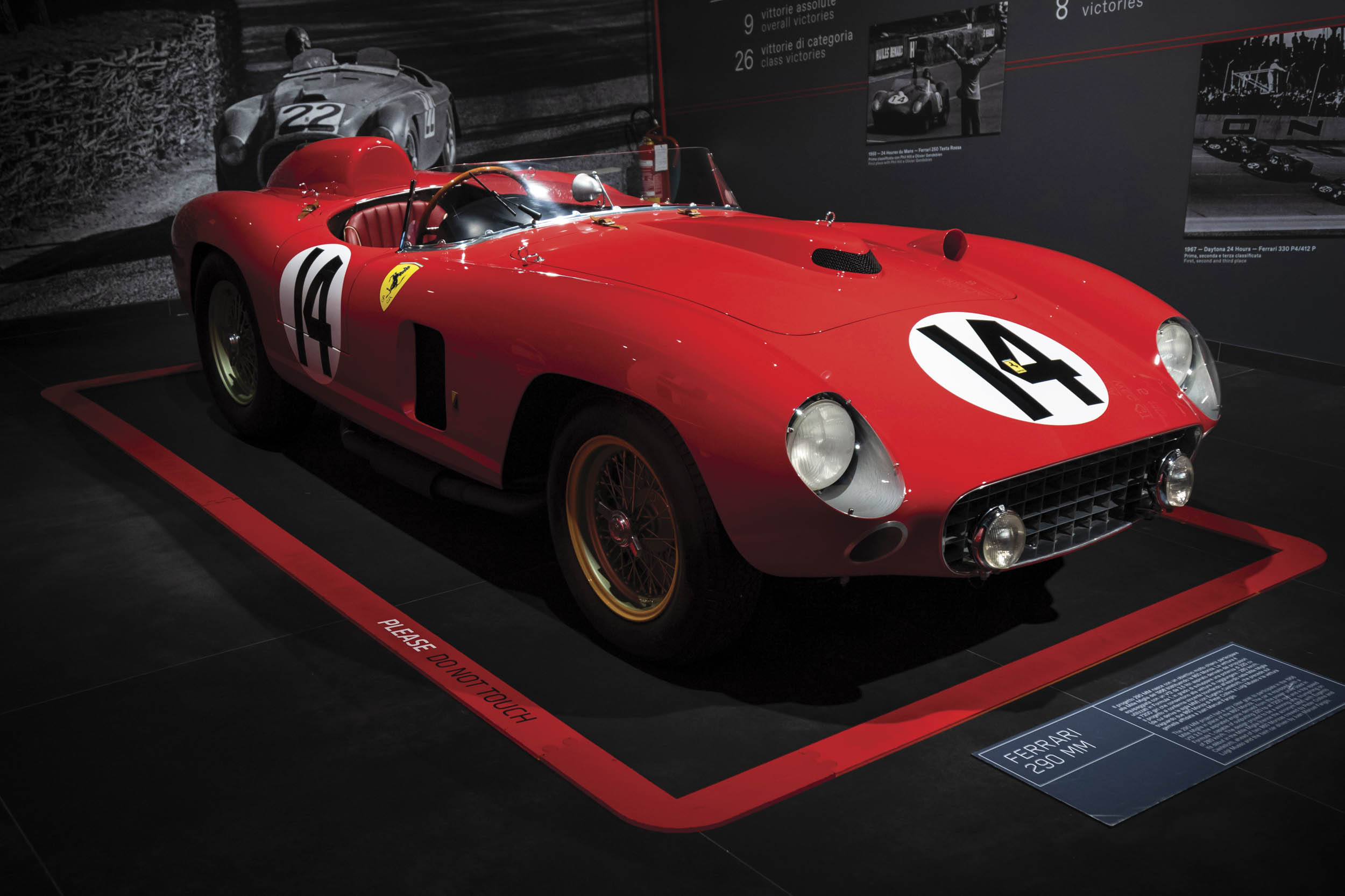 1956 Ferrari 290 MM by Scaglietti front 3/4